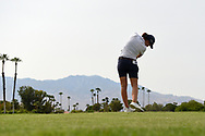 Carlota Ciganda (ESP) watches her tee shot on 5 during round 2 of the 2020 ANA Inspiration, Mission Hills C.C., Rancho Mirage, California, USA. 9/11/2020.<br /> Picture: Golffile | Ken Murray<br /> <br /> All photo usage must carry mandatory copyright credit (© Golffile | Ken Murray)