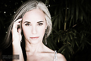 mature evolved beauty with silver hair - grey hair