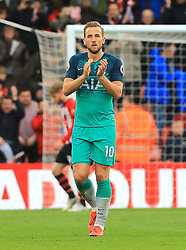 Tottenham Hotspur's Harry Kane applauds fans after the final whistle