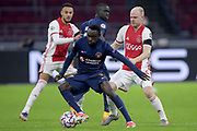 Pione Sisto of FC Midtjylland, Davy Klaassen of Ajax during the UEFA Champions League, Group D football match between Ajax and Midtjylland on november 25, 2020 at Johan Cruijff Arena in Amsterdam, Netherlands - Photo Gerrit van Keulen / Orange Pictures / ProSportsImages / DPPI