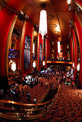 The lobby during the first round of the NFL Draft on April 26th 2012 at Radio City Music Hall in New York, New York. (AP Photo/Brian Garfinkel)