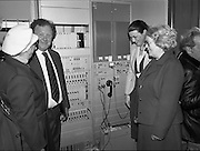 Opening of Automatic Telephone Exchanges, Aran Mor..1980-06-20.20th June 1980.20/06/1980.06-20-80..Photographed at Kilronan, Inismore:..Minister of State at the Department of Posts and Telegraphs, Mark Killilea, opens the new automatic exchange at Kilronan on Inismore...From left:..First: Máire Bn. Ui Chonghaile, Post Mistress of Kill Murvey, Inismore...Second: Minister of State at the Department of Posts and Telegraphs, Mark Killilea TD...Third: Máire Geoghegan-Quinn TD, Minister for the Gaeltacht...Fourth: Máire Bn. Nic Giolla Phádraig, Postmistress Kilronan who looks after the exchange.