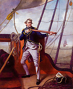 Admiral Adam Duncan, 1st Viscount Duncan (1 July 1731 – 4 August 1804) was a British admiral who defeated the Dutch fleet off Camperdown (north of Haarlem) on 11 October 1797. This victory is considered one of the most significant actions in naval history. by Henri-Pierre Danloux (February 24, 1753 – January 3, 1809) was a French painter and draftsman.