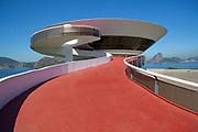 The Niterói Contemporary Art Museum designed by Oscar Niemeyer, Rio de Janeiro
