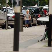 Jack Spijkerman heeft auto problemen voor zijn huis Amsterdam, vrouw Jennemiek Leijssen en zoon Joska