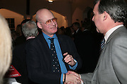 Roger Mavity, Stephen Bayley & Roger Mavity -  launch party for their book-  Life's A Pitch. Venue: The Gymnasium, St Pancras  London,7 March 2007. <br />