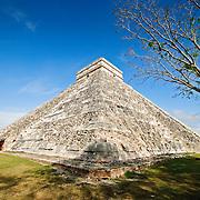 El Castillo (also known as Temple of Kuklcan) at the ancient Mayan ruins at Chichen Itza, Yucatan, Mexico 081216092224_1911x.tif