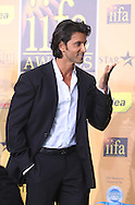 Indian actor Hrithik Roshan arriving at the International Indian Film Academy Awards (IIFA) ceremony at the Hallam Arena in Sheffield for the annual IIFA awards. The awards were known as the 'Bollywood Oscars' and ran from 7-10th June. They were watched by an estimated global television audience 500 million people.