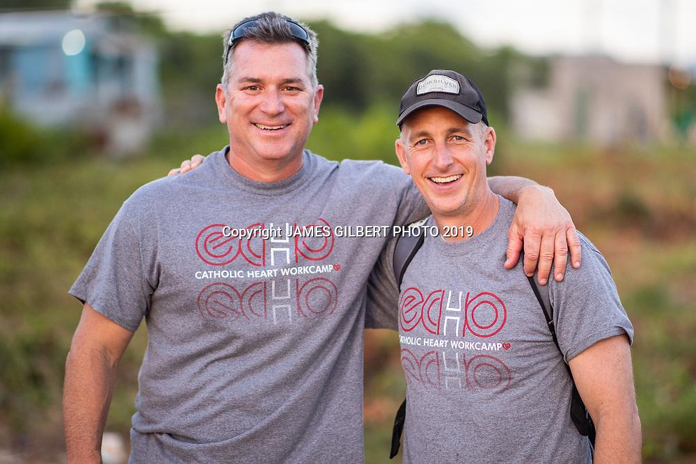 Bryan Ott<br /> Tom Reed<br /> <br /> St Joe mission trip to Belize 2019. JAMES GILBERT PHOTO 2019