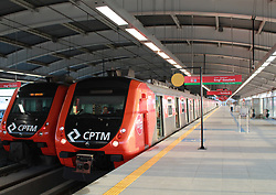 October 3, 2018 - SãO Paulo, Brazil - SÃO PAULO, SP - 03.10.2018: TREM PASSA A LIGAR BRÁS AO AEROPORTO - Train between Bras and Guarulhos Airport starts circulating today, Wednesday, 3. The Connect service will have approximately 35 minutes of travel time and the tariff will be the same, in the amount of R $ 4. (Credit Image: © Cesar Borges/Fotoarena via ZUMA Press)