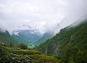 Videseter Norway misty valley