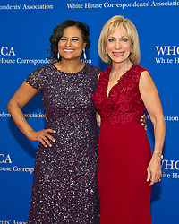 NBC News White House Correspondent Kristen Welker, left, and Andrea Mitchell arrive for the 2017 White House Correspondents Association Annual Dinner at the Washington Hilton Hotel in Washington, DC, USA, on Saturday April 29, 2017. Photo by Ron Sachs/CNP/ABACAPRESS.COM