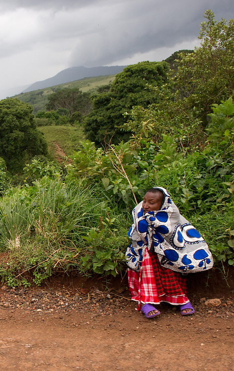 The Maasai on the roadside