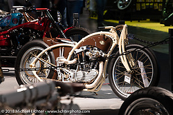 Racz Arpad Dorin's 1973 Ironhead 1100 custom from Romania in the AMD World Championship of Custom Bike Building in the Intermot Customized hall during the Intermot International Motorcycle Fair. Cologne, Germany. Saturday October 6, 2018. Photography ©2018 Michael Lichter.