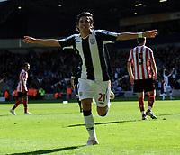 West Bromwich Albion/Sunderland Premiership 25.04.09 <br /> Photo: Tim Parker Fotosports International<br /> Juan Carlos Menseguez WBA celebrates 3rd goal