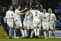 Fotball<br /> England 2004/2005<br /> Foto: SBI/Digitalsport<br /> NORWAY ONLY<br /> <br /> Leeds United v Millwall<br /> <br /> Coca-Cola Championship<br /> <br /> 19/12/2004<br /> <br /> Leeds Celebrate the first goal scored by John Oster