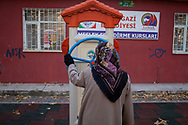Ayse Galip exercises in a park in Kayseri before looking after her family at home.