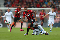 Football - 2019 / 2020 Premier League - AFC Bournemouth vs. West Ham United<br /> <br /> Bournemouth's Callum Wilson leaves Angelo Ogbonna of West Ham United on the floor to set up an attack during the Premier League match at the Vitality Stadium (Dean Court) Bournemouth  <br /> <br /> COLORSPORT/SHAUN BOGGUST