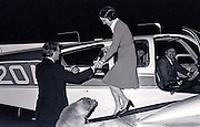 Jimmy and Rosalynn Carter land at a small airport at midnight as they end a day of campaigning in Illinois. The frugal candidate used a small twin engine aircraft during the early months of his 1976 presidential campaign. - To license this image, click on the shopping cart below -
