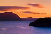 Humber River at dusk<br /> York Harbour<br /> Newfoundland<br /> Canada
