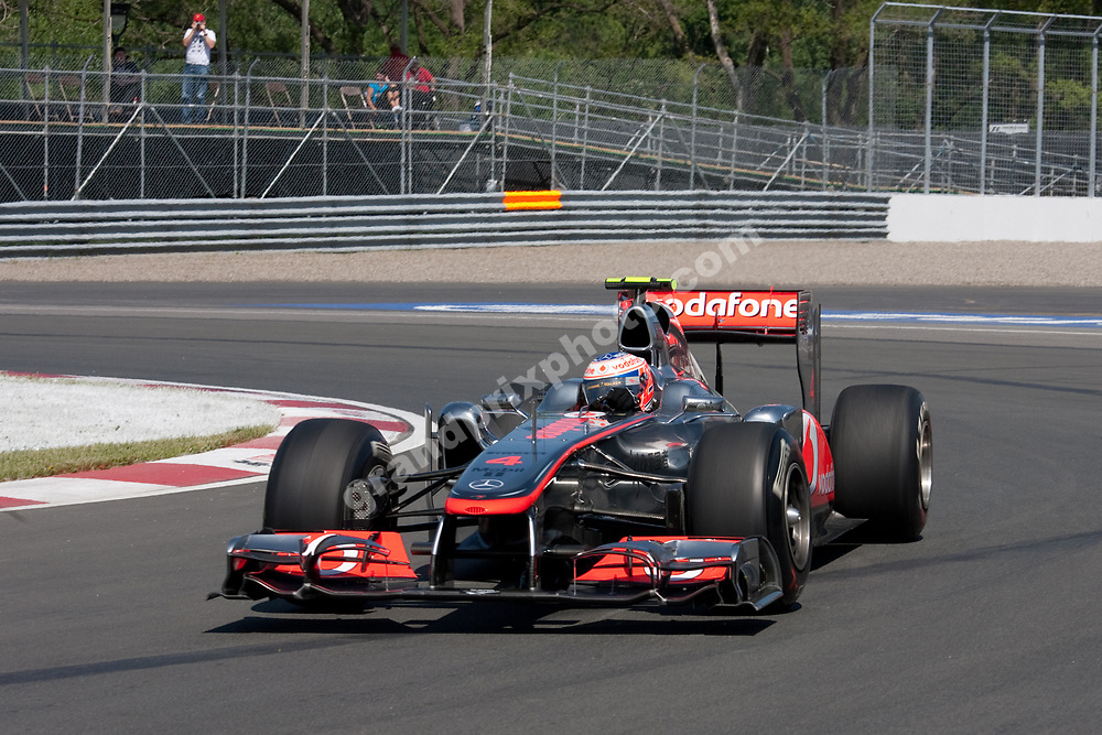 Jenson Button (MacLaren-Mercedes) in practice before the 2011 Canadian Grand Prix in Montreal. Photo Grand Prix Photo
