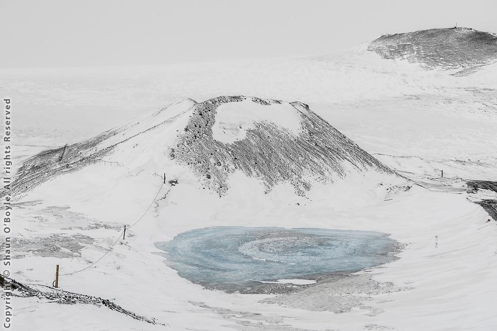 Blue hole, Erebus Glacier beyond.