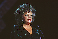 Elizabeth Taylor at the Martin Luther King Jr Gala at the Kennedy Center for the Performing Arts in February 1986..Photograph by Dennis Brack bb32