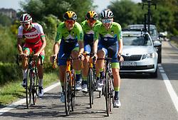 Luka Pibernik, Domen Novak, Tadej Pogacar of Team Slovenia during Practice session at UCI Road World Championship 2020, on September 25, 2020 in Imola, Italy. Photo by Vid Ponikvar / Sportida