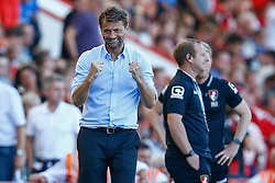 Aston Villa Manager Tim Sherwood celebrates winning their opening game at AFC Bournemouth - Mandatory by-line: Jason Brown/JMP - Mobile 07966 386802 08/08/2015 - FOOTBALL - Bournemouth, Vitality Stadium - AFC Bournemouth v Aston Villa - Barclays Premier League - Season opener