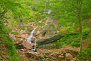 Beulach Ban Falls. Cabot Trail. Cape Breton Island. Appalachian Mountain chain.  <br />Cape Breton Highlands National Park<br />Nova Scotia<br />Canada