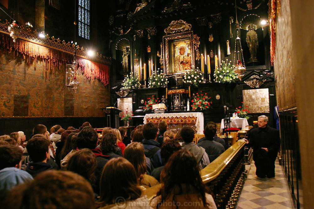 Mass at Czestochowa, Poland. Jasna Gora Monastery (Black Madonna).