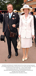 ANDREW & ROSEMARY PARKER BOWLES he is the former husband of Camilla Parker Bowles, at Royal Ascot on 19th June 2003.PKR 142