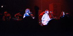 The Grateful Dead. Live in Concert at The Springfield Civic Center on 23 April 1977. Whole Band except keyboardist Keith Godchaux out of view. Full Stage.