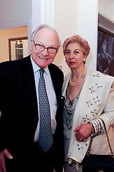 LORD & LADY RENWICK at a reception to celebrate the repairs on the Queen Elizabeth Gate in Hyde Park after it's successful repair following damaged sustained in a traffic accident in early 2010.  The party was held at 35 Sloane Gardens, London on 7th June 2010.