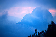 Half Dome at sunset from Olmstead Point. 11-10-1988