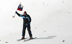 Slovenian flag before Qualification's 1st day of 32nd World Cup Competition of FIS World Cup Ski Jumping Final in Planica, Slovenia, on March 19, 2009. (Photo by Vid Ponikvar / Sportida)
