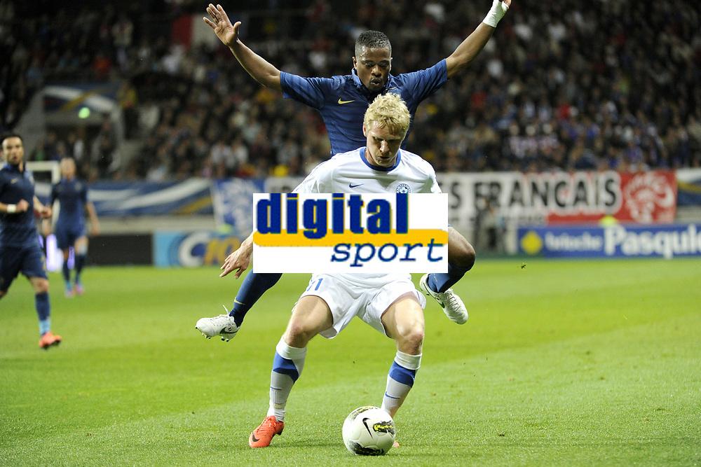 FOOTBALL - INTERNATIONAL FRIENDLY GAMES 2011/2012 - FRANCE v ESTONIA  - 5/06/2012 - PHOTO JEAN MARIE HERVIO / REGAMEDIA / DPPI - ATS PURJE (EST) / PATRICE EVRA (FRA)