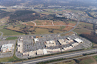 Aerial photo of The Avenue Shopping Center in Murfreesboro Tennessee on Medical Center Parkway on Black Friday.