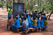 Children attending school in Rwanda