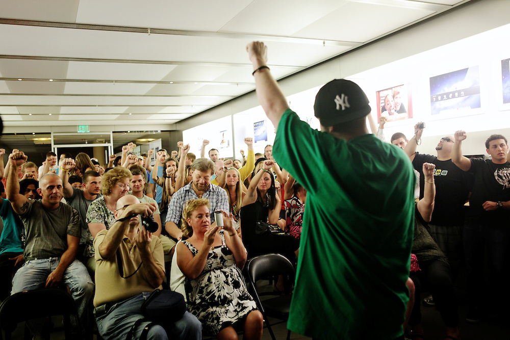 """Ernie Bordon, """"EbGb,"""" gives a performance at the Apple Store in Naples, Fla. as iTunes featured artist. EbGb says he gives the same performance for 10 people as he would for 10,000. """"I make music that I would like, even if it wasn't my own shit. I think more people should do that. When you make music for yourself?you're going to touch certain people. You have to do you, 100 per cent of the time."""""""