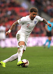 England's Kyle Walker during the UEFA Nations League, Group A4 match at Wembley Stadium, London. PRESS ASSOCIATION Photo. Picture date: Sunday November 18, 2018. See PA story SOCCER England. Photo credit should read: Mike Egerton/PA Wire. RESTRICTIONS: Use subject to FA restrictions. Editorial use only. Commercial use only with prior written consent of the FA. No editing except cropping.