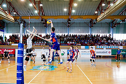 Andrej Flajs of ACH during volleyball match between Calcit Volleyball and ACH Volley in 4th Final Round of Radenska Classic League 2012/13 on April 16, 2013 in Arena Kamnik, Slovenia. (Photo By Vid Ponikvar / Sportida)