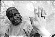 Maria & Me by Star Nigro<br /> <br /> <br /> This older woman appeared to me in a courtyard in front of the local church. From then it was like meeting one of my grandmothers.  Mitla, Mexico.<br /> <br /> <br /> © 2021 All artwork is the property of STAR NIGRO.  Reproduction is strictly prohibited.