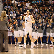 Breanna Stewart, UConn, receiving her player of the year award for the American Athletic Conference before the UConn Vs Cincinnati Quarterfinal Basketball game at the American Women's College Basketball Championships 2015 at Mohegan Sun Arena, Uncasville, Connecticut, USA. 7th March 2015. Photo Tim Clayton