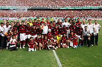 20091206: RIO DE JANEIRO, BRAZIL - Flamengo vs Gremio: Brazilian League 2009 - Flamengo won 2-1 and celebrated the 6th Brazilian Championship of its history. In picture: Flamengo players and staff celebrating victory. PHOTO: CITYFILES