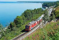 Russie, Siberie, transsiberien le long du lac Baikal // Russia, Siberia, Baikal Lake, Trans-siberian train