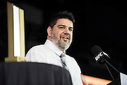 LAS VEGAS, NV - JULY 10:  Pete Williams speaks as he is inducted into the UFC Hall of Fame at the Las Vegas Convention Center on July 10, 2016 in Las Vegas, Nevada. (Photo by Cooper Neill/Zuffa LLC/Zuffa LLC via Getty Images) *** Local Caption *** Pete Williams