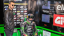 September 29, 2018 - 54, Toprak Razgatlioglu, TUR, Kawasaki ZX-10RR, Kawasaki Puccetti Racing, SBK 2018, MOTO - SBK Magny-Cours Grand Prix 2018, Free Practice 4, 2018, Circuit de Nevers Magny-Cours, Acerbis French Round, France ,September 29 2018, action during the SBK Free Practice 4 of the Acerbis French Round on September 29 2018 at Circuit de Nevers Magny-Cours, France (Credit Image: © AFP7 via ZUMA Wire)