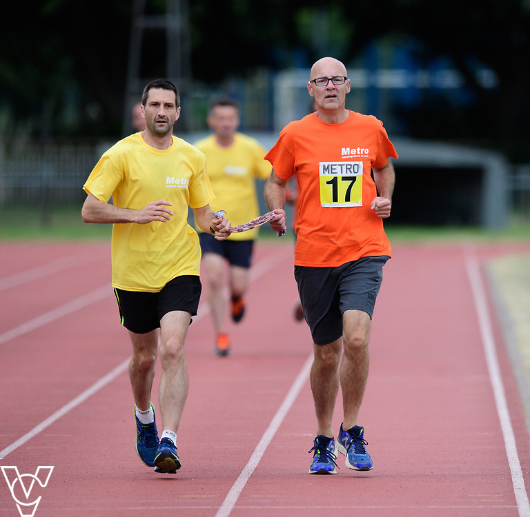 Event: 1500 meters<br /> Competitors, from left: David Beynon<br /> <br /> Metro Blind Sport's 42nd Athletics Open, held at Mile End Stadium, Tower Hamlets, London.<br /> <br /> Picture: Chris Vaughan Photography for Metro Blind Sports<br /> Date: June 16, 2018