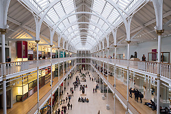 The Grand Gallery of the  National Museum of Scotland in Edinburgh, Scotland, United Kingdom
